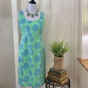 VINEYARD VINES Blue/Green Coral Sleeveless Dress